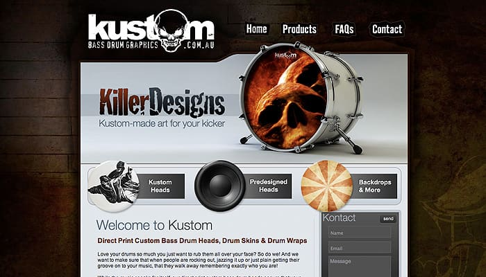 Kustom best drum graphic