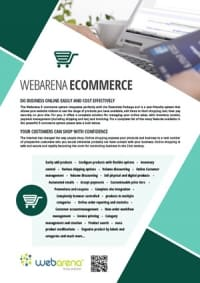 webarena ecommerce web design flyer