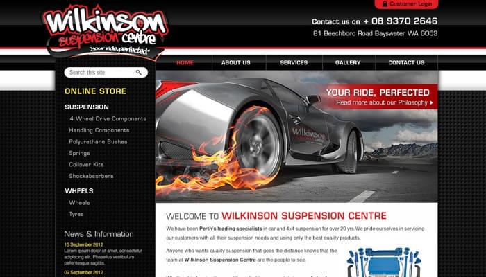 Wikinson suspension center